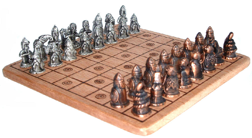 xadrez antigo, pau SANTO, ouro e prata